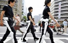 Hybrid Assistive Limb, or HAL, made by Japanese robot maker Cyberdyne may be leased to help the elderly or disabled and also comes in an arm version.