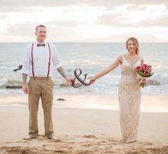 mariage sur la plage pantalon homme avec bretelles et chemise