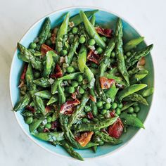 Fresh spring produce needs little embellishment, although a quick toss with bacon never hurts.