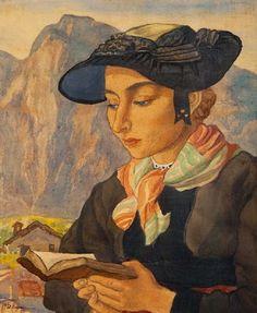 Jeune fille d'Evolene. Charles-Clos Olsommer (Swiss, 1883-1966).