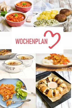 schedule Varied recipe ideas for a week. - Wochenplan -Weekly schedule Varied recipe ideas for a week. Whole 30 Recipes, Raw Food Recipes, Cooking Recipes, Healthy Recipes, Delicious Recipes, Detox Recipes, Mexican Dinner Recipes, Le Diner, Healthy Eating Tips