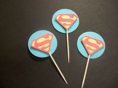 cup cake toppers inspiration (i'd have to make batman)
