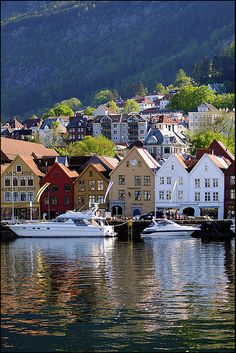 Bergen, capital of Norway.  Talk about quaint and charming villages - Norway has it all!  ASPEN CREEK TRAVEL - karen@aspencreektravel.com