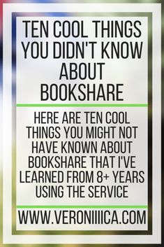 Ten Cool Things You Didn't Know About Bookshare. Here are ten cool things you might not have known about Bookshare that I've learned from years using the service Assistive Technology, Educational Technology, Individual Education Plan, 504 Plan, Core Curriculum, Summer Reading Lists, Positive Images, School Psychology, Folder Games