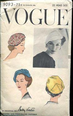 Vintage Vogue, 1957, Sally Victor