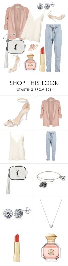 """""""Summer Love"""" by priscilla-031 ❤ liked on Polyvore featuring Rachel Zoe, River Island, Anine Bing, Marc by Marc Jacobs, Yves Saint Laurent, Alex and Ani, BERRICLE, Links of London and Tory Burch"""