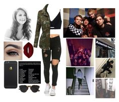 """""""The Girl Who Cried Wolf"""" by jasloves5sos ❤ liked on Polyvore featuring Versace, LE3NO, Lime Crime and Christian Dior"""