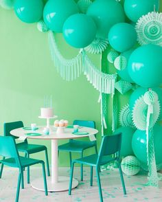 """4,769 Likes, 43 Comments - Oh Happy Day (@ohhappyday) on Instagram: """"Go green or go home. We're inspired by this minty soirée on ohhappyday.com"""""""