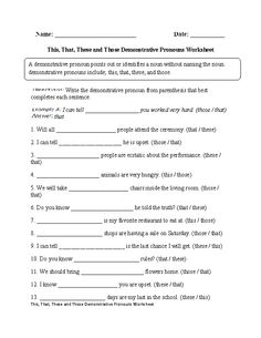 Printables Pronoun And Antecedent Worksheet indefinite pronouns worksheet circling part 1 intermediate thisthatthesethose demonstrative worksheet