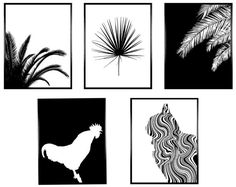 Set of 5 Prints, Set of 5, Set of 5 Wall Art, Wall Art Prints, Monochrome Print Monochrome Art Set of Prints Digital Prints Print Monochrome