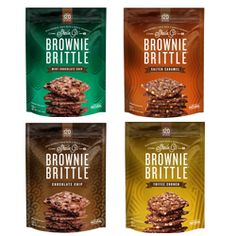 "Get one of each of our fantastic four flavors - Chocolate Chip, Salted Caramel, Toffee Crunch and Mint Chocolate Chip.  We call 'em the ""fab four"" for a reason.  Especially ""fab"" because they're only 120 calories-per-ounce.  You can afford to indulge.  Available now at http://shop.browniebrittle.com."