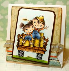 Tobi Crawford shows new Hay Ride Kiddos to fantastic advantage! http://www.stampendous.com/product/0/CRR150-R/_/Cling_Hay_Ride_Kiddos