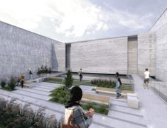 Térreo Arquitetos - concurso memorial às vítimas da kiss - santa maria (rs) Santa Maria, Sidewalk, Architects, Pavement, Curb Appeal