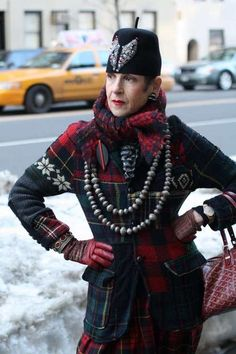 Tziporah Salamon, 52, a personal stylist, fashion consultant, and performance artist living in New York.