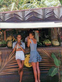 Photo by Patrick Demarchelier. Models: Nadege de Bospartus, Christy Turlington, vogue-us-june-1992
