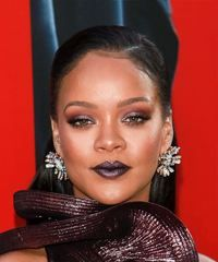 View yourself with this Rihanna Long Straight Black Updo Straight Updo, Straight Hairstyles, Casual Hair Updos, Givenchy, Virtual Hairstyles, Rihanna Looks, Rihanna Hairstyles, Hair Color For Black Hair, Sleek Look