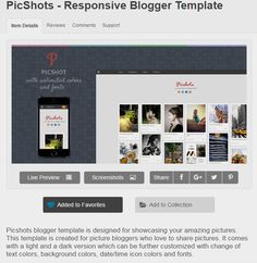 picshots responsive blogger template by templateszoo themeforest