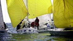 Americans trailing behind at the Student Yachting World Cup. #yacht #yachting #sailing #onthewater #americans #racing