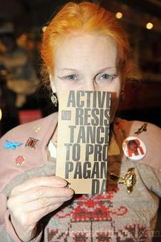 * Vivienne Westwood presenting her cultural manifesto at London Transport Museum London, England - 29.02.08