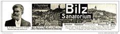 Original - Anzeige / Advertise 1903 : (ENGLISH) BILZ SANATORIUM RADEBEUL - DRESDEN  -  180 x 45 mm