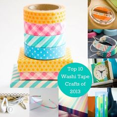 Top 10 washi tape crafts of 2013 - grab some washi at the dollar store