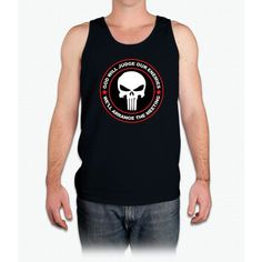 god will judge our enemies we'll arrange the meeting - red - Mens Tank Top