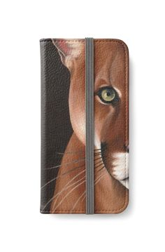 'Puma face' iPhone Wallet by savousepate Diy Wallet, Iphone Wallet Case, Iphone Case Covers, Iphone 6, Key Tattoos, Cool Cases, Canvas Prints, Art Prints, Puma