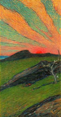 Karl Nordström (1855-1923):  'Sunset', ca. 1899... that sky. those colors. amazing.