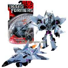 Hasbro Year 2007 Transformers Movie Series 1 Deluxe Class 6 Inch Tall Robot Action Figure - Decepticon DREADWING with 2 Missile Launchers and 2 Missiles (Vehicle Mode: Fighter Jet)