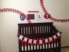Baby colts nursery. One wall finished!