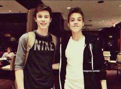 Awww this was so long ago. I miss the old days. Matthew Espinosa & Shawn Mendes.