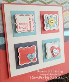 Stampin' Up! Epic Day Pretty Petites Hand Stamped Birthday Card www.stamperbythesea.com