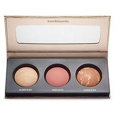 Glow Together Palette: I went to Sephora today and swatched this pallet. The far left has so pigment. The middle one I personally wasn't a fan of. ( saying that I'm not really a big fan of any blushes.) Far right is not that pigmented but would be good for a light skinned contour. Over all I rate this product 7 out of 10.