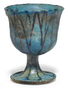 an egyptian faience chalice third intermediate period dynasty xxi xxii 1070 712 - Faience Colore