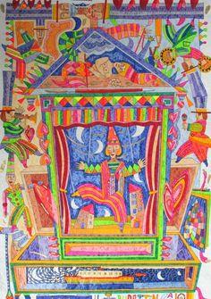 Il burattinaio, Francesco Musante, Serigrafia polimaterica #gliartistidiGALP