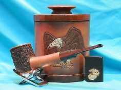 ... -Partially-Rusticated-Randall-Harris-Magnum-Freehand-Briar-Pipe-0115