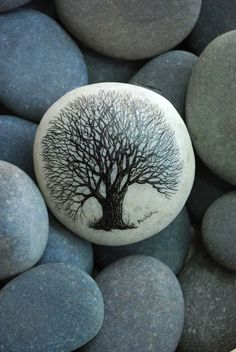 Trees are sanctuaries. Whoever knows how to speak to them, whoever knows how to listen to them, can learn the truth... ~Herman Hesse #Stone Art