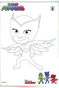 Imagen relacionada Ninjago Coloring Pages, Coloring Pages For Girls, Cartoon Coloring Pages, Coloring Books, Pebbles And Bam Bam, Festa Pj Masks, Kids Pages, Drawing Base, Mask Party