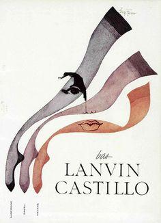 50s ad: Lanvin Castillo stockings
