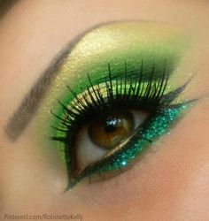 Eye Makeup Eyeshadow:  #Green #eyes.