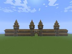 minecraft town wall google search - Minecraft Japanese Gate
