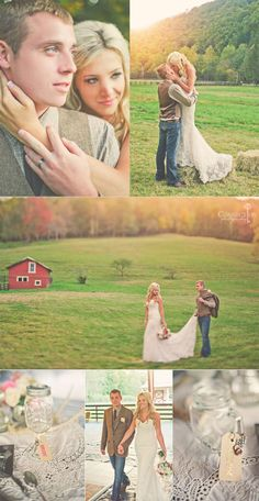 a west virginia wedding....Love the casual look for the groom