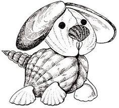 Поделки из ракушек. Щенок Seashell Ornaments, Seashell Art, Seashell Crafts, Beach Crafts, Shells And Sand, Sea Shells, Shell Animals, Seashell Projects, Shell Flowers