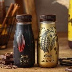 카카오랏 노아르 200mlX4 Rice Packaging, Food Packaging Design, Beverage Packaging, Coffee Packaging, Bottle Packaging, Pretty Packaging, Packaging Design Inspiration, Branding Design, Luxury Packaging