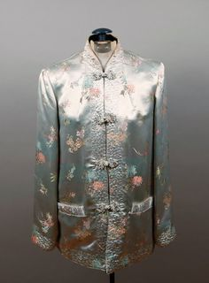 1950'S CHINESE SILK EMBROIDERED JACKET.  Have this jacket only it is lined in red.
