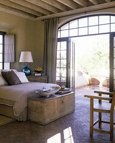 Master Bedroom patio - French doors open to hot tub deck.