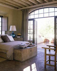 Master Bedroom patio - French doors open to hot tub deck.