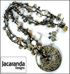 Dalmation_Jasper__Black_Lip_Pearl_Long_Beaded_Donut_Pendant_Necklace_by_Jacaranda_Jewellery