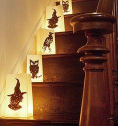 Paper bag lanterns from Martha Stewart Living