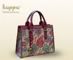 DONNA PEKALONGAN TOTE BAG  by: Kuppu Batik & Tenun  3.475.000,00  Batik tulis lawas from Pekalongan, Central Java, combined with red Italian cow leather and decorated with hand stitched. - 35x26x13cm (LxHxW) - Batik tulis lawas in Adek Baji motifs from Pekalongan, Central Java, Indonesia - Combined venetian red & grey Italian genuine cow leather - Olive green eco-suede fabric lining  www.kuppubatiktenun.com  More info  Laura 08119103668 Pin BB 751E6162  #donna #pekalongan #instabatik…